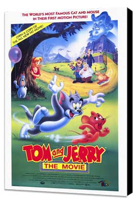 Tom and Jerry - 11 x 17 Movie Poster - Style A - Museum Wrapped Canvas