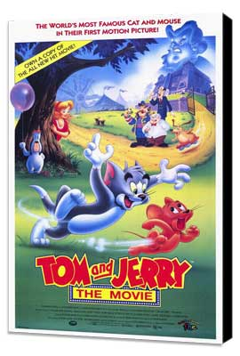 Tom and Jerry - 27 x 40 Movie Poster - Style A - Museum Wrapped Canvas