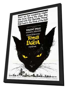 Tomb of Ligeia - 27 x 40 Movie Poster - Style A - in Deluxe Wood Frame
