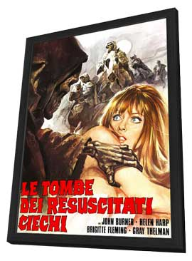 Tombs of the Blind Dead - 27 x 40 Movie Poster - Italian Style A - in Deluxe Wood Frame