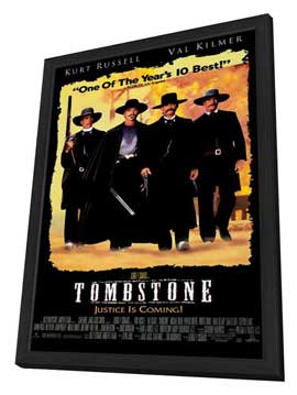 Tombstone - 11 x 17 Movie Poster - Style B - in Deluxe Wood Frame