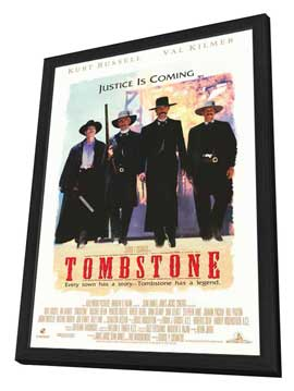 Tombstone - 27 x 40 Movie Poster - Style A - in Deluxe Wood Frame