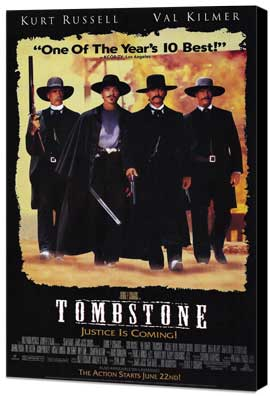 Tombstone - 27 x 40 Movie Poster - Style B - Museum Wrapped Canvas