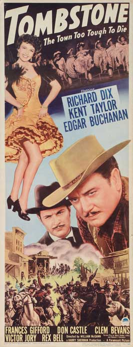 Tombstone, the Town Too Tough to Die - 14 x 36 Movie Poster - Insert Style A