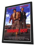 Tommy Boy - 27 x 40 Movie Poster - Style A - in Deluxe Wood Frame