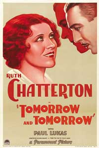 Tomorrow and Tomorrow - 27 x 40 Movie Poster - Style A