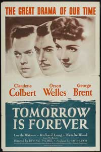 Tomorrow Is Forever - 27 x 40 Movie Poster - Style B