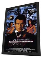 Tomorrow Never Dies - 11 x 17 Movie Poster - Style C - in Deluxe Wood Frame