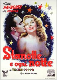 Tonight and Every Night - 27 x 40 Movie Poster - Italian Style A