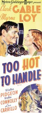 Too Hot to Handle - 14 x 36 Movie Poster - Insert Style A