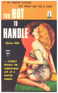 Too Hot To Handle - 11 x 17 Retro Book Cover Poster