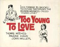 Too Young to Love - 11 x 14 Movie Poster - Style A