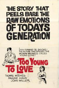 Too Young to Love - 27 x 40 Movie Poster - Style A