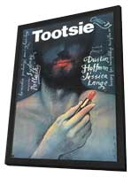 Tootsie - 27 x 40 Movie Poster - Polish Style A - in Deluxe Wood Frame