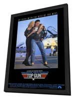 Top Gun - 27 x 40 Movie Poster - Style B - in Deluxe Wood Frame