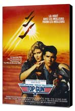 Top Gun - 27 x 40 Movie Poster - French Style A - Museum Wrapped Canvas