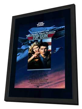Top Gun - 11 x 17 Movie Poster - Style A - in Deluxe Wood Frame