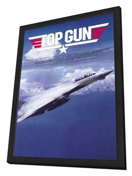 Top Gun - 11 x 17 Movie Poster - Style C - in Deluxe Wood Frame