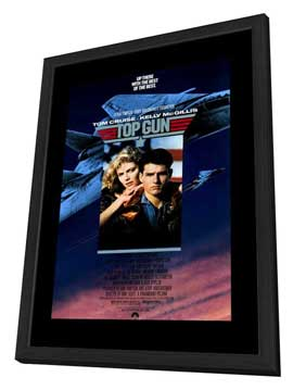 Top Gun - 27 x 40 Movie Poster - Style A - in Deluxe Wood Frame