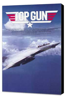 Top Gun - 11 x 17 Movie Poster - Style C - Museum Wrapped Canvas