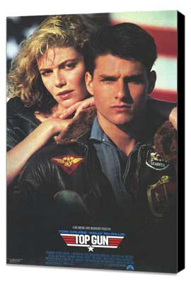Top Gun - 11 x 17 Movie Poster - Style D - Museum Wrapped Canvas