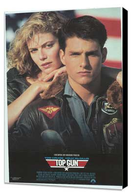 Top Gun - 11 x 17 Movie Poster - Style F - Museum Wrapped Canvas