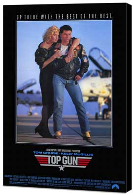Top Gun - 27 x 40 Movie Poster - Style B - Museum Wrapped Canvas