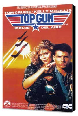 Top Gun - 27 x 40 Movie Poster - Style G - Museum Wrapped Canvas