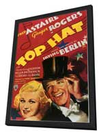 Top Hat - 27 x 40 Movie Poster - Style B - in Deluxe Wood Frame
