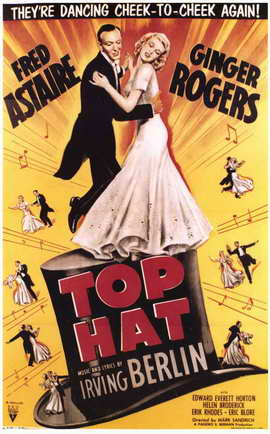 Top Hat - 11 x 17 Movie Poster - Style E