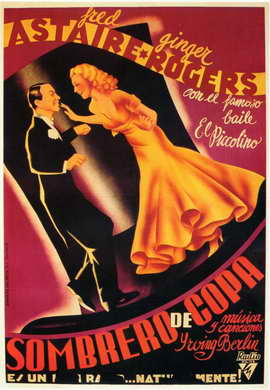 Top Hat - 11 x 17 Movie Poster - Spanish Style A
