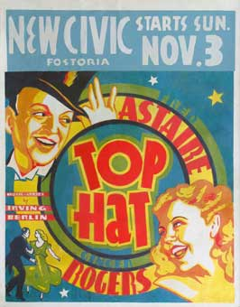 Top Hat - 22 x 28 Movie Poster - Half Sheet Style C