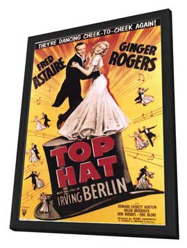 Top Hat - 11 x 17 Movie Poster - Style E - in Deluxe Wood Frame