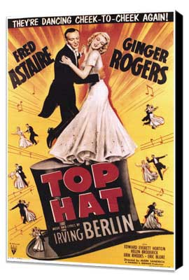 Top Hat - 27 x 40 Movie Poster - Style A - Museum Wrapped Canvas