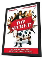 Top Secret! - 27 x 40 Movie Poster - German Style A - in Deluxe Wood Frame