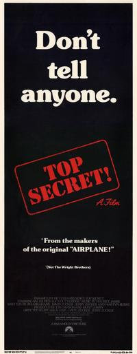 Top Secret! - 14 x 36 Movie Poster - Insert Style A