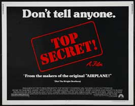 Top Secret! - 22 x 28 Movie Poster - Half Sheet Style A