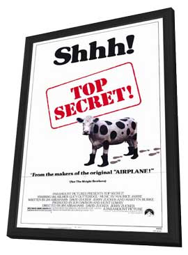 Top Secret! - 11 x 17 Movie Poster - Style A - in Deluxe Wood Frame