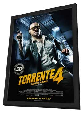 Torrente 4 - 11 x 17 Movie Poster - Spanish Style A - in Deluxe Wood Frame