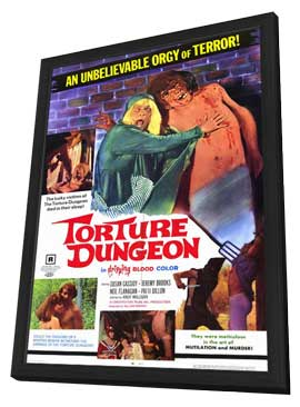 Torture Dungeon - 11 x 17 Movie Poster - Style A - in Deluxe Wood Frame