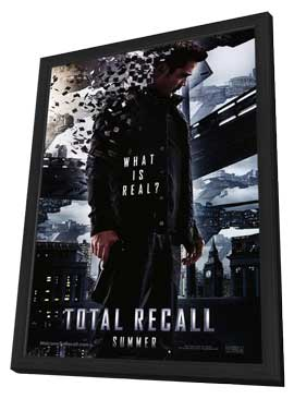 Total Recall - 27 x 40 Movie Poster - Style A - in Deluxe Wood Frame