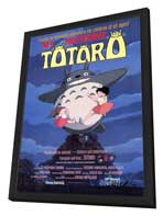 Totoro (My Neighbor) - 27 x 40 Movie Poster - Style A - in Deluxe Wood Frame