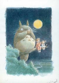 Totoro (My Neighbor) - 11 x 17 Movie Poster - Style B