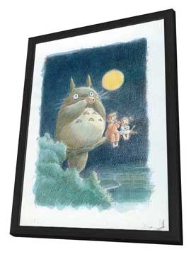 Totoro (My Neighbor) - 11 x 17 Movie Poster - Style B - in Deluxe Wood Frame