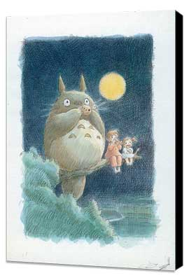 Totoro (My Neighbor) - 11 x 17 Movie Poster - Style B - Museum Wrapped Canvas