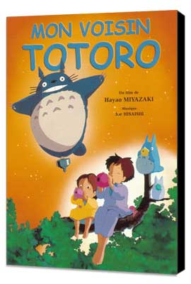 Totoro (My Neighbor) - 11 x 17 Movie Poster - French Style A - Museum Wrapped Canvas