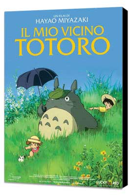 Totoro (My Neighbor) - 11 x 17 Movie Poster - Italian Style A - Museum Wrapped Canvas