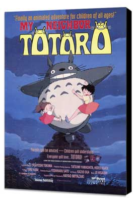 Totoro (My Neighbor) - 27 x 40 Movie Poster - Style A - Museum Wrapped Canvas