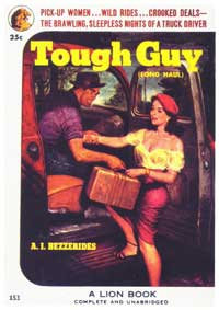 Tough Guy - 11 x 17 Retro Book Cover Poster