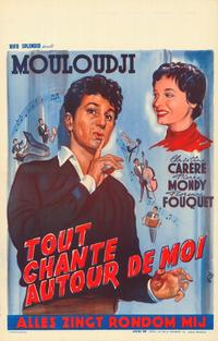 Tout chante autour de moi - 11 x 17 Movie Poster - Belgian Style A